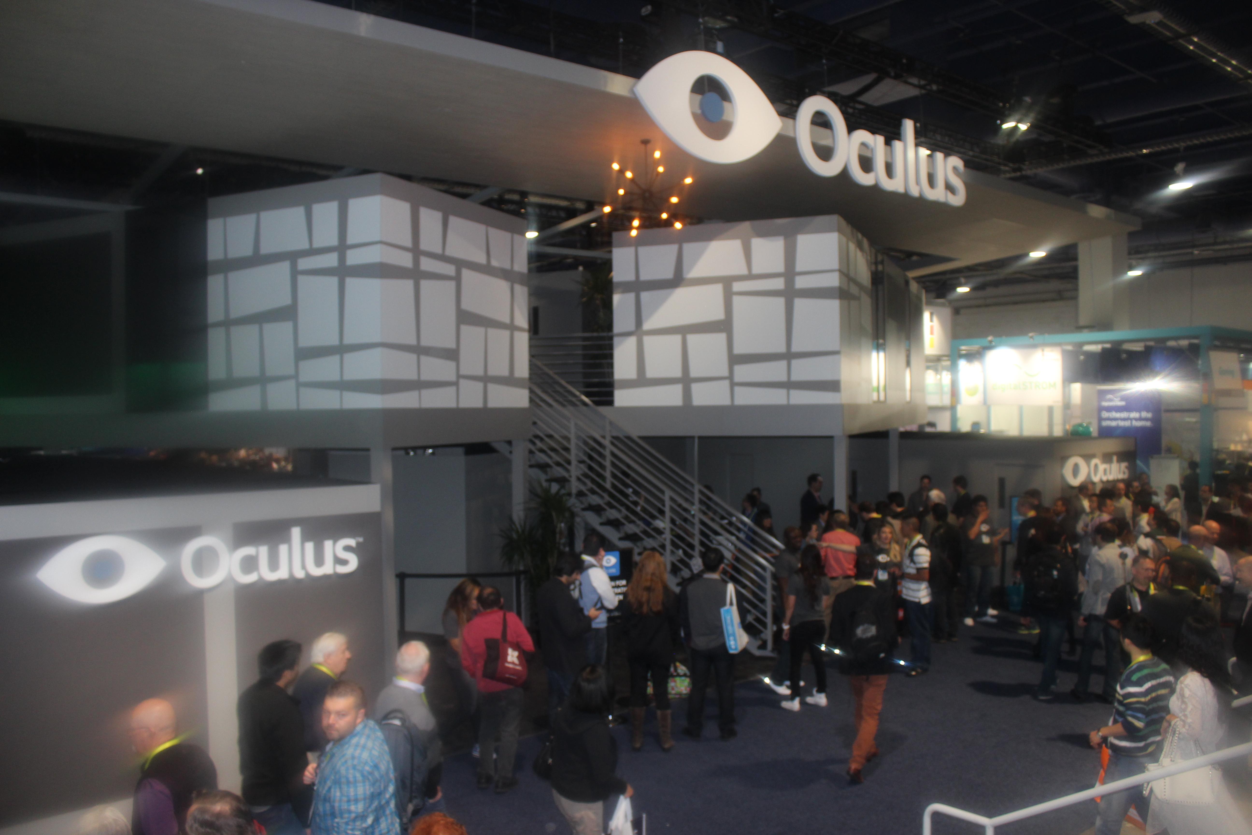 Oculus VR стенд на выставке CES 2015
