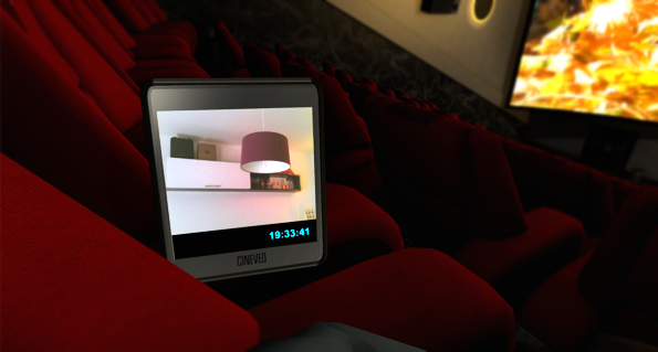 CINEVEO дисплей с выводом изображения с вебкамеры